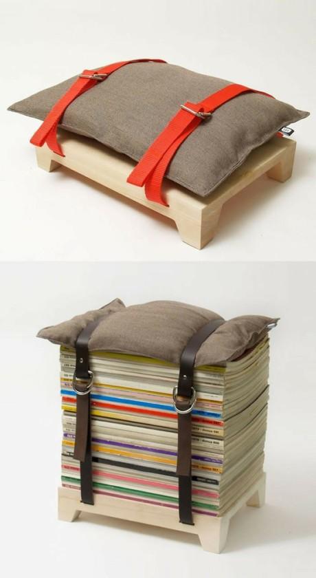 el sofa amarillo decorar con revistas (2)