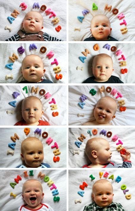 el sofa amarillo fotos bebés mes a mes (3)