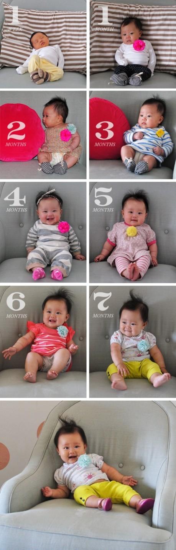 el sofa amarillo fotos bebés mes a mes (5)