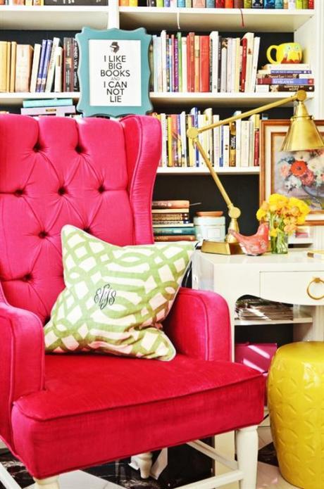 el sofá amarillo estanterías grandes (8)